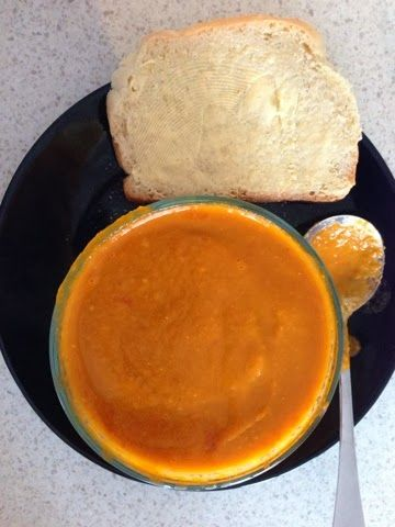 Tomato Soup with Bread simplythermomix.blogspot.com Lunch, Thermomix, Bread, Homemade, Quick, Fresh, Vegetarian, Vegan