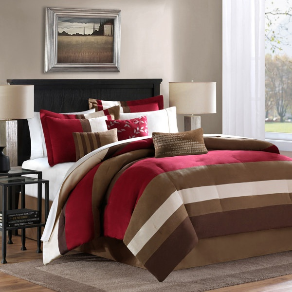 loreto stripe california king decorative bedding set king and calking are the same size w x l comforter bed skirt two king shams bbb