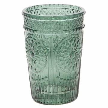 Geef je huis extra sfeer met deze blauwe kaarsenhouder! Het heeft prachtige details en is gemaakt van glas.