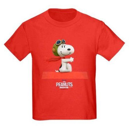 CafePress Flying Ace - The Peanuts Movie Kids' Dark T-Shirt, Red
