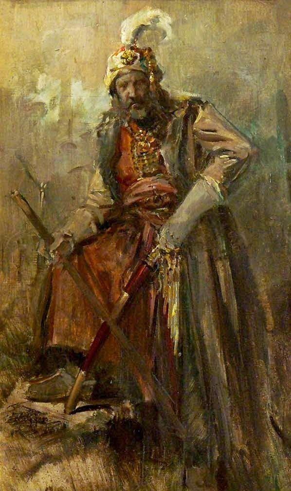 Γύζης Νικόλαος – Gyzis Nikolaos [1842-1901] Oriental Warrior