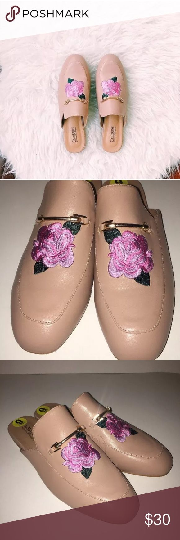 Catherine malandrino blush pink rose mules size 9 Size 9 woman's  Pink  Rose design  New without box Catherine Malandrino Shoes Mules & Clogs