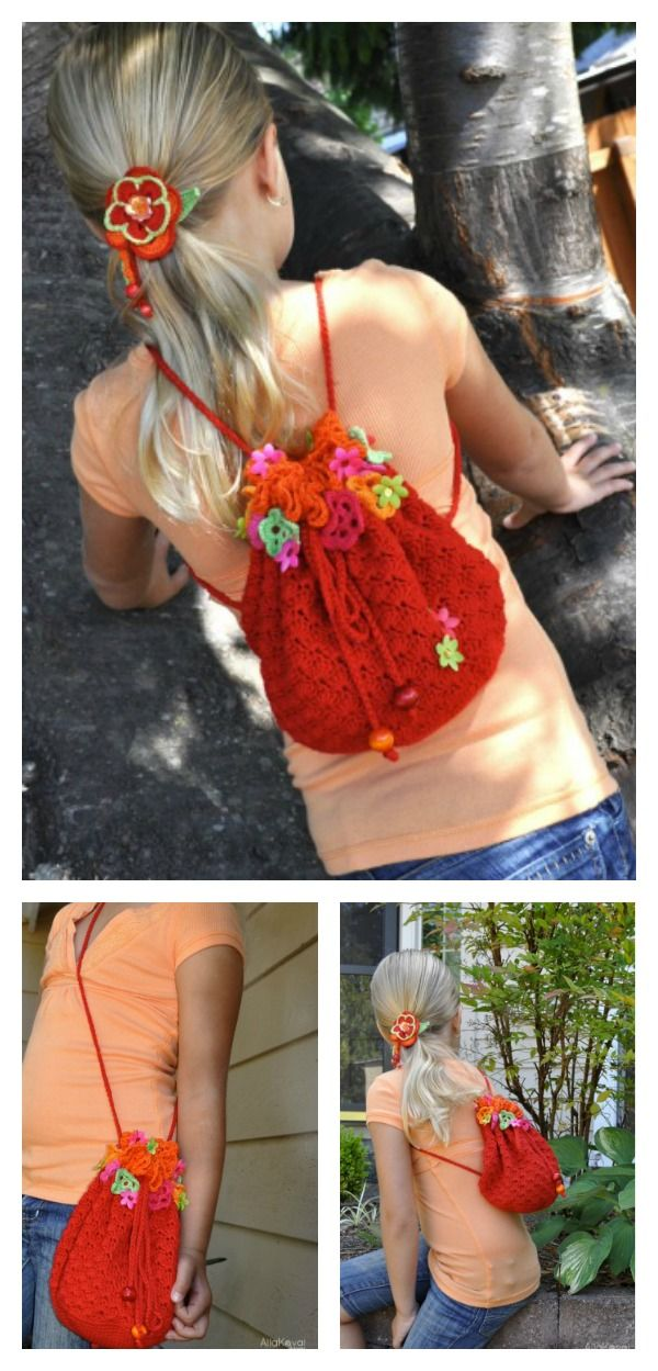Crochet Floral Fiesta Backpack with Free Pattern