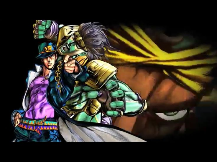 screenshot Jotaro Kujo and his Stand of the videogame Jojo's All Star Battle