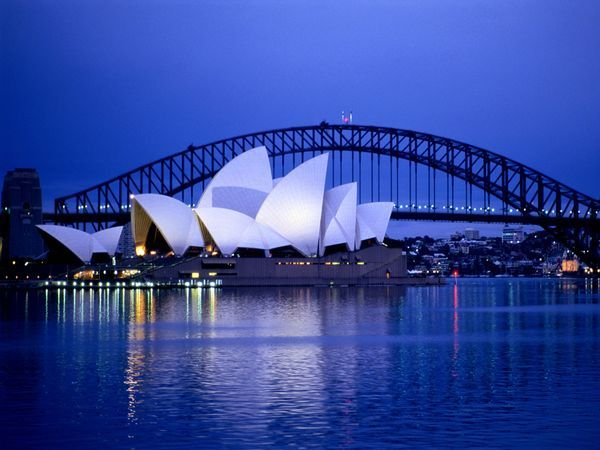 Opera House and the Harbour Bridge