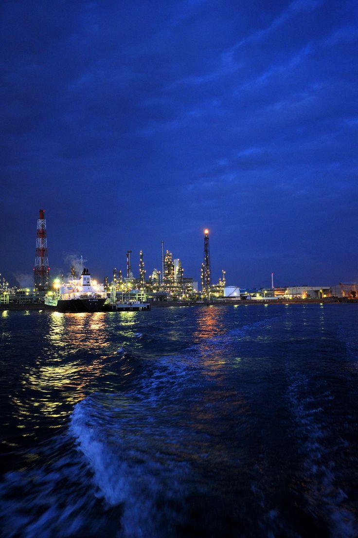 みなとみらい 夜景 工場 クルーズ クルージング ナイトビュー nightview 船 海 横浜