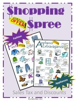 Shopping Spree - Sales Tax and Discounts Math Review