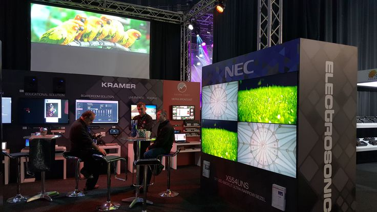 We showcased our exclusive Audio Visual brands, Kramer, NEC Display Solutions, Elite Screens, Sierra Video, ZeeVee and GALAXY (video wall processors)