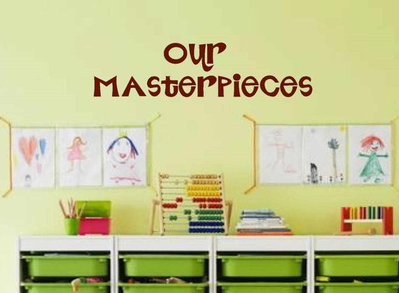 Kids room wall decal vinyl wall art masterpieces wall decal childrens playroom wall decals our masterpieces