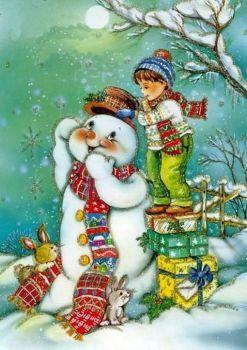 Le cadeau pour le bonhomme de neige (70 pieces)
