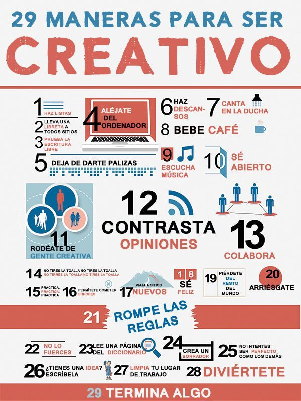 29 maneras para ser creativo