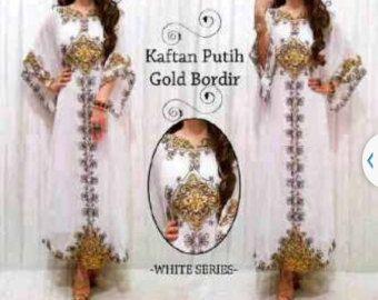 Beautiful Indonesian Beaded Kaftan especially by Kaftan4Shorties
