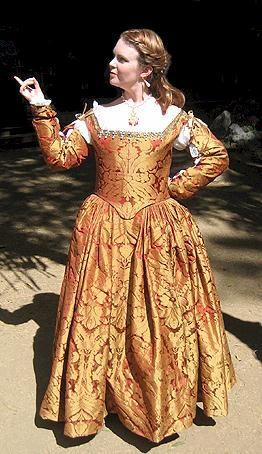 Fashion italian renaissance period dress