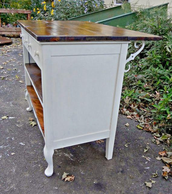 Repurposed dresser to kitchen island