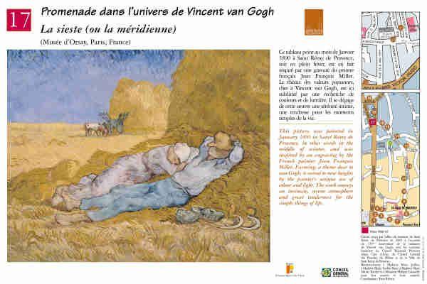 """""""La sieste"""" ou """"la méridienne"""" #peinture #provence #vangogh #saintremydeprovence"""