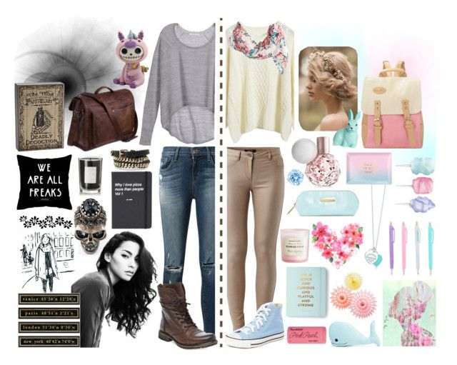 """""""#7  Two worlds"""" by alzbeta-zlochova ❤ liked on Polyvore featuring Tiffany & Co., Steve Madden, Cotton Candy, H&M, Oliver Gal Artist Co., Coqui Coqui, Forever 21, Paper Mate, Kate Spade and Alexander McQueen"""