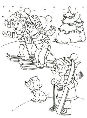 winter coloring page for kid (3) | Crafts and Worksheets for Preschool,Toddler and Kindergarten