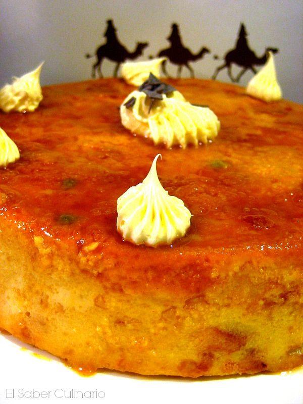Pudin navideño de Roscón de Reyes con salsa de caramelo | Cocinar en casa es facilisimo.com