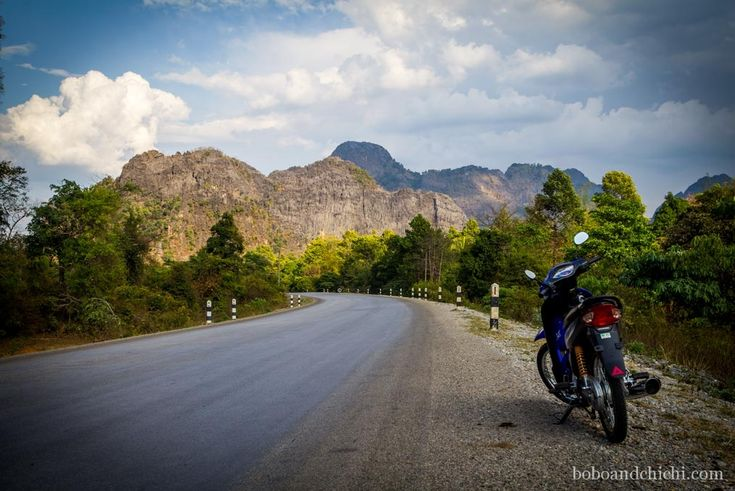 Exploring Thakhek Laos, One Cave at a Time - Motorbike-in-the-distance