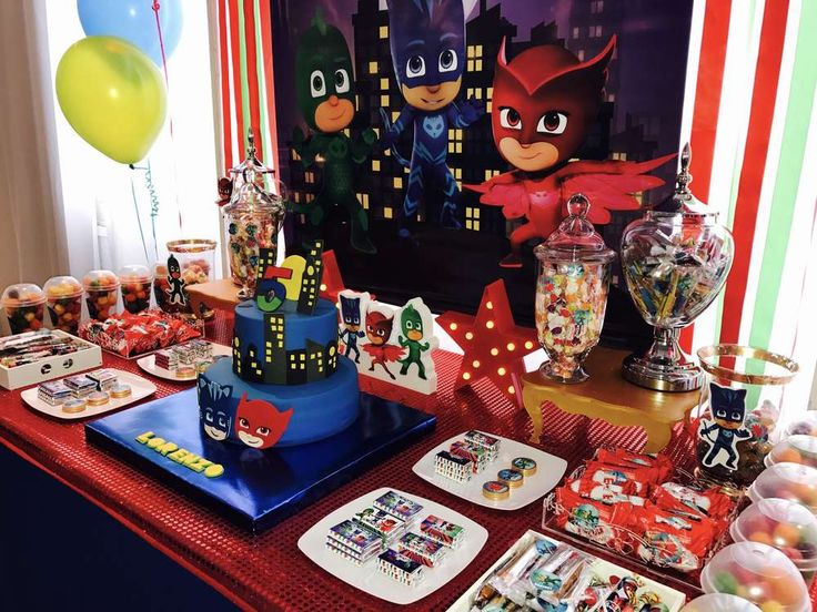 Pj Masks birthday party | CatchMyParty.com