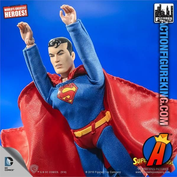 Up, up, and away! #Superman #SuperFriends 8-inch retro-style figure. See full details here and quickly search thousands of new and vintage #collectibles #toys and #ActionFigures… http://actionfigureking.com/list-3/figures-toy-company/8-inch-limited-edition-dc-superhero-two-packs/retro-style-8-inch-super-friends-superman-action-figure
