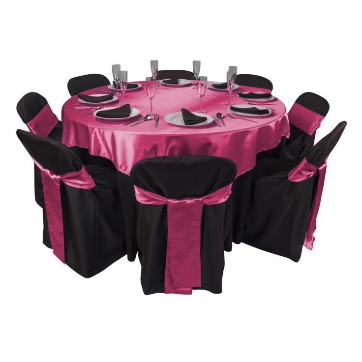 Black And Hot Pink Just Add A Centerpiece | Dress The Party   Linens |  Pinterest | Hot Pink, Centerpieces And Weddings