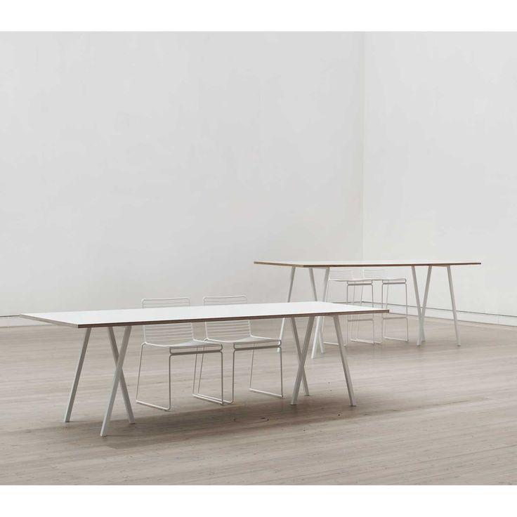 Loop Stand Table bord 200 cm, vit från Hay – Köp online på Rum21.se