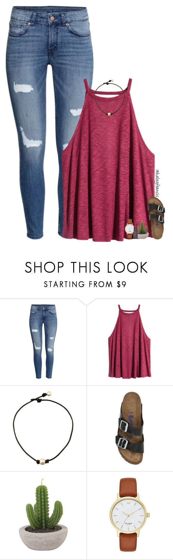 """RTD!! "" by haleyfrancis ❤ liked on Polyvore featuring H&M, Birkenstock, Kate Spade and Urban Decay"