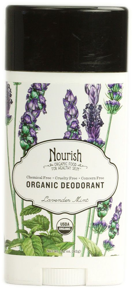 If you don't want to make your own, this is the next best thing. Nourish Organic Deodorant Lavender Mint