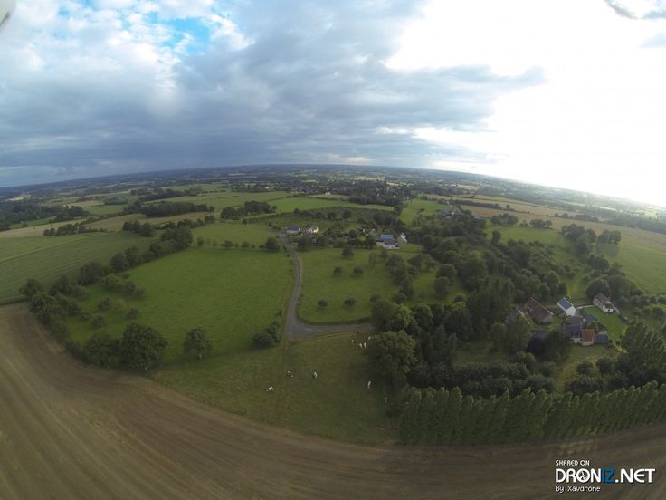 Aerial drone Photo from France by Xavdrone : 85 La Boderie, 61330 La Baroche-sous-Lucé, France