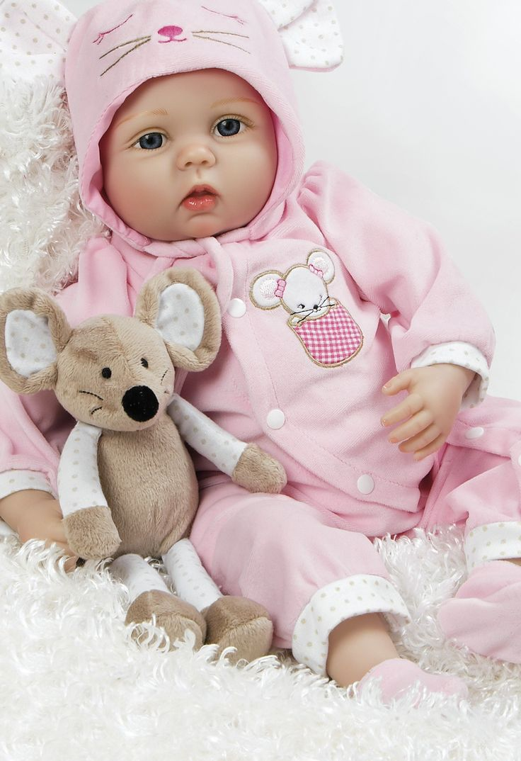 Baby Doll that Looks Real, Mia Mouse, 21 inch Flex Touch Vinyl & Weighted Body