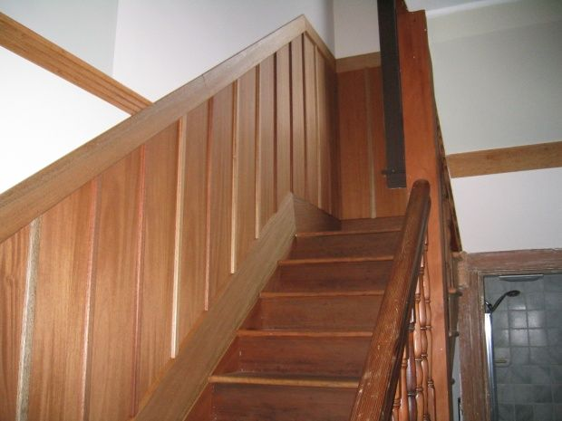 wanescoating in stairways | Join the #1 Woodworking Forum Today - It's Totally Free!