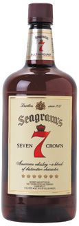 Seagram's 7 Crown Blended Whiskey. Required for 7 & 7's, as well as a good old fashioned Hot Toddy.
