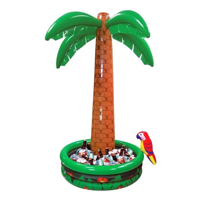 Aufblasbare Palme mit Getränkebehälter, 182 cm - Hawaii-Accessoires Hawaii-Party Motto-Party Produkte - Party-Discount.de