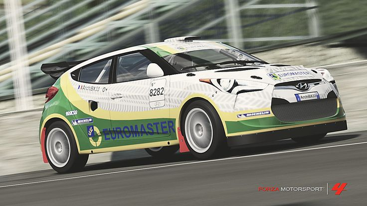 Hyundai Veloster # 37 of Benj33 in the window of Forza Motorsport 4