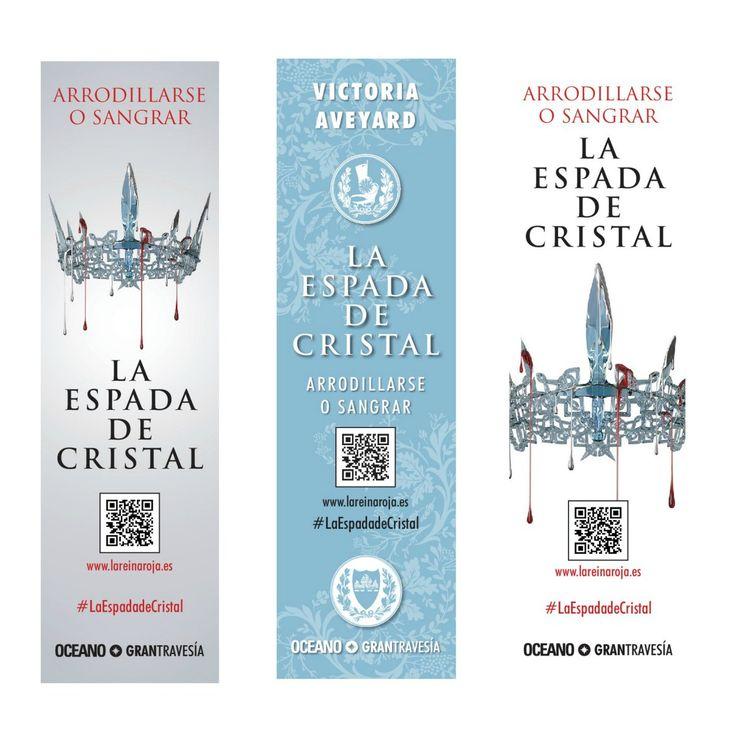 """""""⚔ Descarga los marcapáginas imprimibles de #LaEspadadeCristal ⚔ en http://lareinaroja.es/extras-2/#extras-3 … """". Info. vía @OceanoGTravesia"""