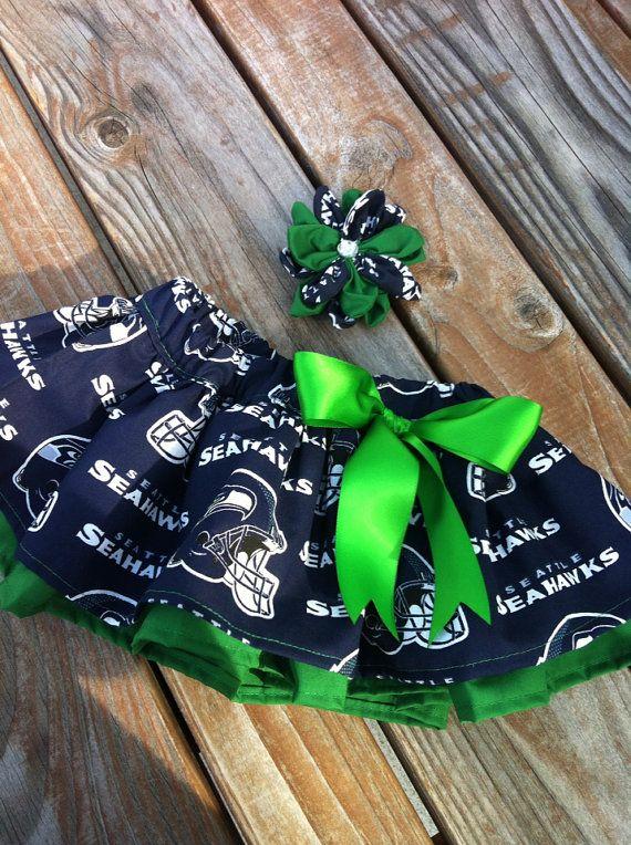Seattle Seahawks skirt, NFL skirt, Seattle Seahawks, twirl skirt, tutu skirt, fabric tutu, photo prop
