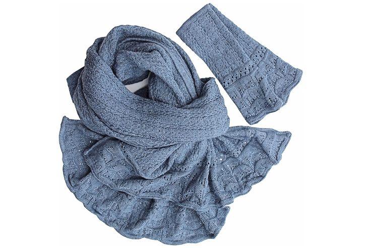 TOSCA scarf and wrist warmer set | McKernan Woollen Mills | Handmade in Ireland | Handmade scarves | Weaving and Knitting | Irish Design