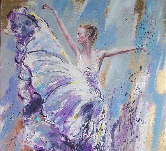 Original ballerina painting,ballerina oil painting,palette knife ballerina painting,ballet painting,ballet art,palette knife painting,ballet