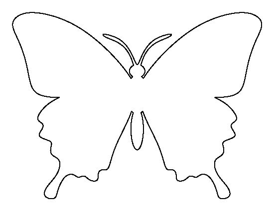 Butterfly pattern. Use the printable outline for crafts, creating stencils, scrapbooking, and more. Free PDF template to download and print at http://patternuniverse.com/download/butterfly-pattern/