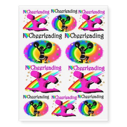 CUTE ASSORTMENT OF I LOVE CHEERLEADING TATTOOS - love gifts cyo personalize diy