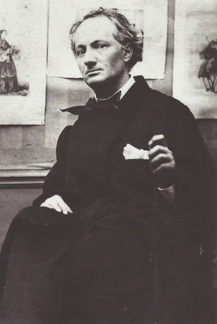 Charles Baudelaire (1821-1867). French Poet who wrote Les Fleurs Du Mal (Flowers of Evil).