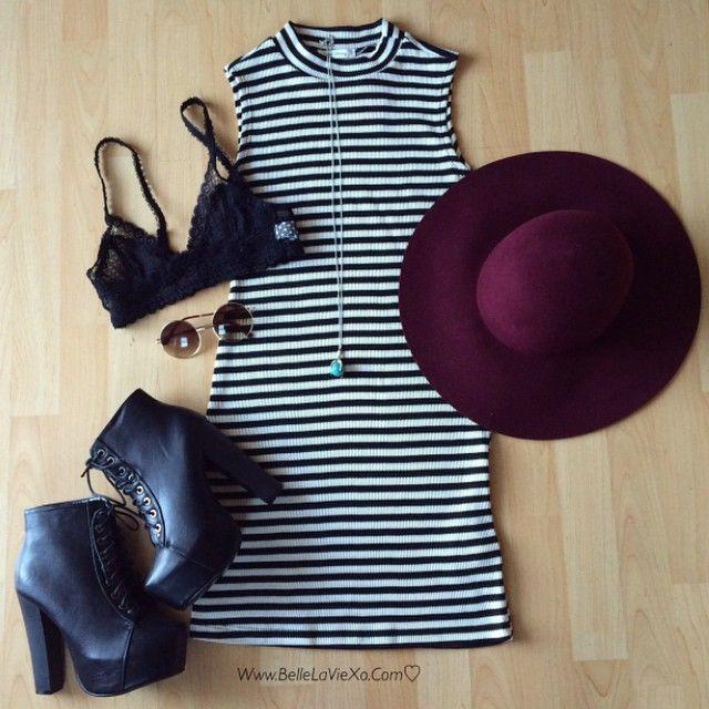 #dress #striped #romwe