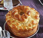 Charlotte's Slovak Easter Bread Recipe - Paska (looks delicious and takes me back to my elementary school days where we would have this every day at lunch in the cafeteria at school)  This one is for my friend Nicole A.  Memories.