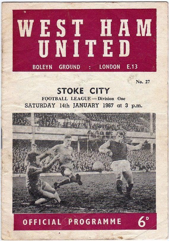 Vintage Football (soccer) Programme - West Ham United v Stoke City, 1966/67 season #football #soccer #westham