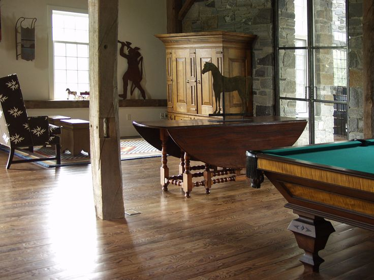 Nice From Dan Mosheim / Dorset Custom Furniture Large Kas Entertainment Cabinet  In The Background And The Custom Pool Table In The Foreground.