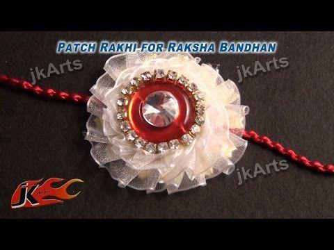 DIY Patch Rakhi for Raksha Bandhan  JK Arts 339