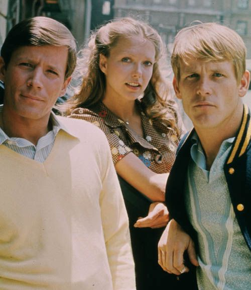 Peter Strauss, Susan Blakely and Nick Nolte in Rich Man, Poor Man