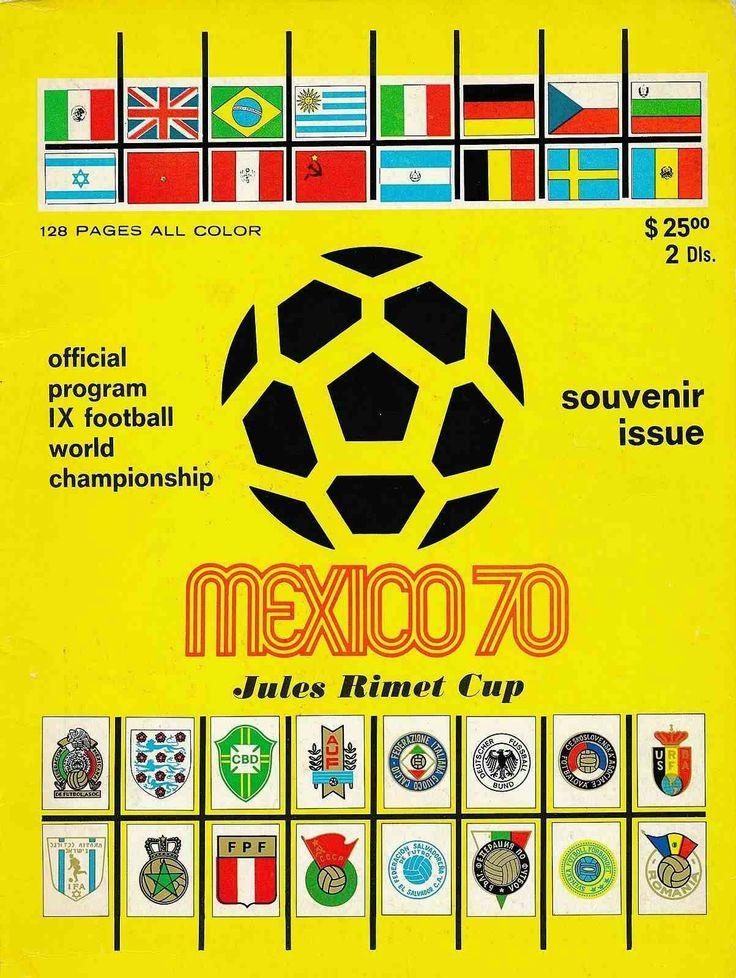 Mexico 1970 World Cup Finals Souvenir programme.