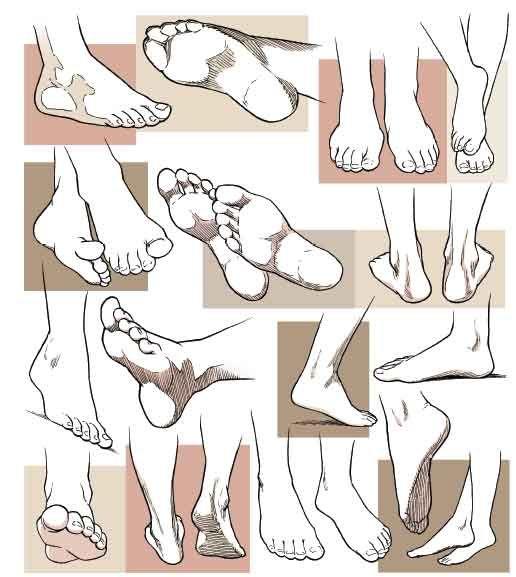 manga-feet... ✤ || CHARACTER DESIGN REFERENCES |